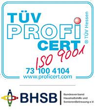 TUEV Profi ISO9001 | BHSB